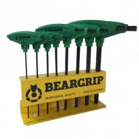 Zestaw kluczy imbus Beargrip 8szt. TYP T