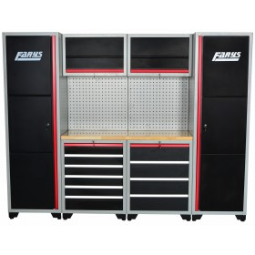 Set of workshop cabinets with intergrated wooden bench FR4070