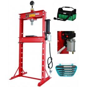 20T Workshop press with pneumatic-pump + bag gratis FR5016