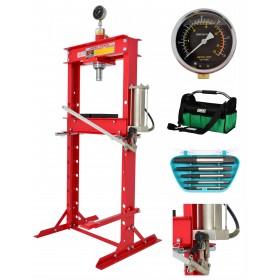 20T Workshop press with leg-pump + bag gratis FR5013
