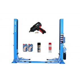 Podnośnik dwukolumnowy automat 4t FR5071P + olej i klucz pneumatyczny