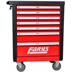 Szafka warsztatowa narzędziowa wózek garażowy FR4033 czerwona