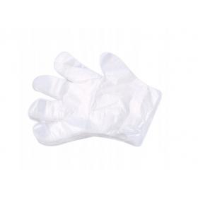 Jednorazowe rękawice- rękawiczki foliowe HDPE 100 sztuk