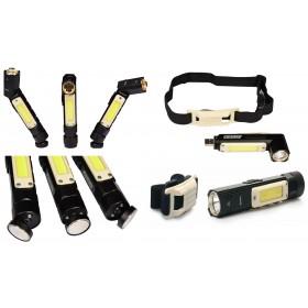 Latarka czołowa czołówka USB LED AKU COB 3W FR8064