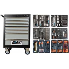 Szafka z wyposażeniem narzędziowa wózek warsztatowy 7szuflad FR4035