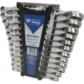 Zestaw kluczy płasko-oczkowych 12 sz. 8-19mm
