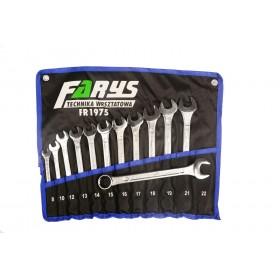 Zestaw kluczy płasko oczkowych 12sztuk 8-22mm FR1975